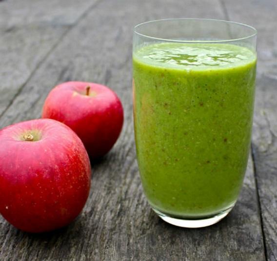 Suco detox maçã