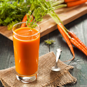 Suco de cenoura detox